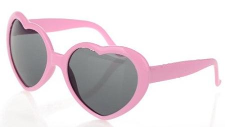 Cute Heart Shape Folding Sunglasses for Girls