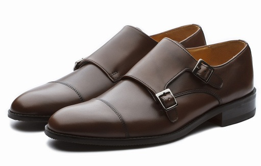 Dark Brown Monk Strap Shoes for Men
