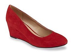 Deep Red Wedges Shoe for Women