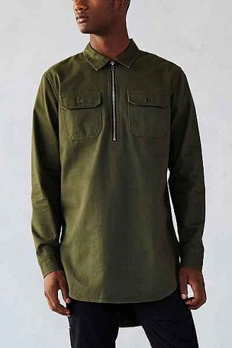 Designer Men's Long Shirts with Tail