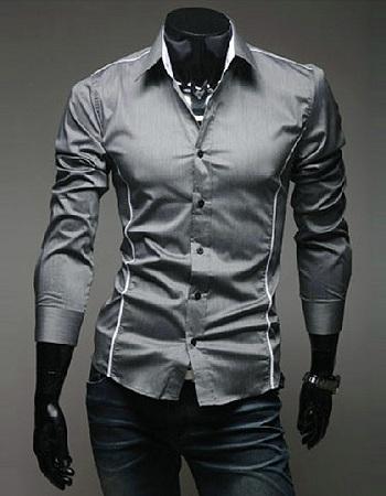 Designer print tuxedo in grey