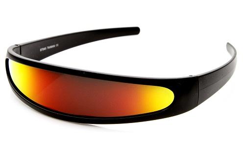 Disco Retro Futuristic Wraparound Sunglasses