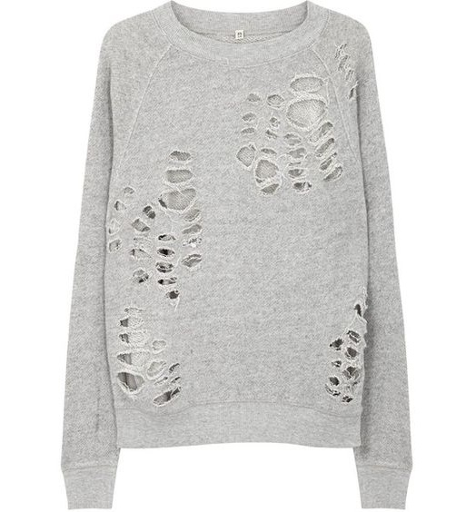Distressed Women's Sweatshirt