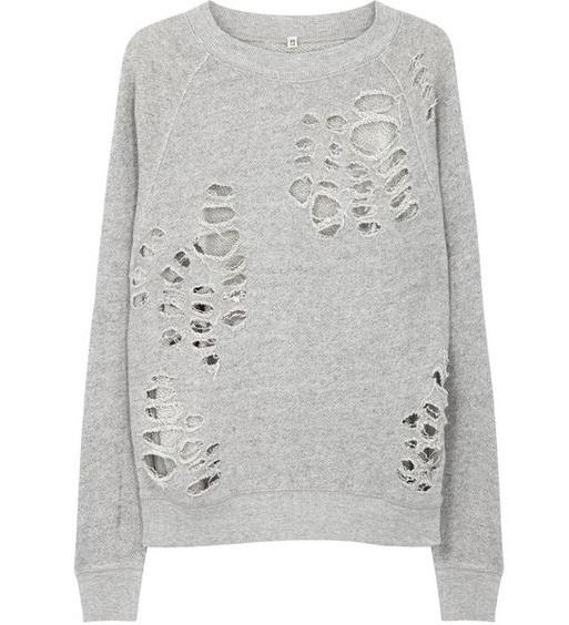Distressed Women's Sweatshirt
