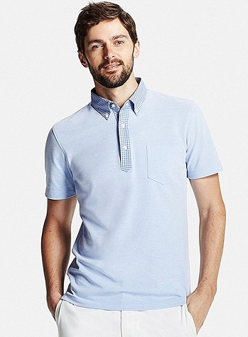 Dry collar men's polo shirt