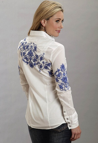 Embroidered Back Shirt for Women