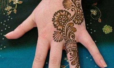 Engagement Ceremony Ring Style Mehndi Design