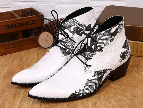 Fashion white heels for men
