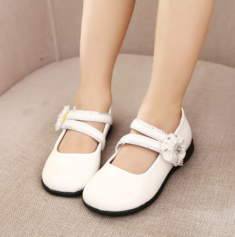 Flat Double Strap White Shoe
