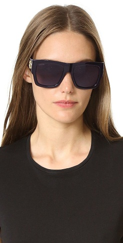 Flat Top Oversized Square Sunglasses