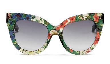Floral Print- Round frame Sunglass