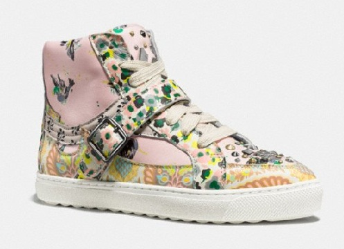 Floral Print With Stud Sneaker for Women