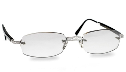 Frame less Diamond Sunglasses