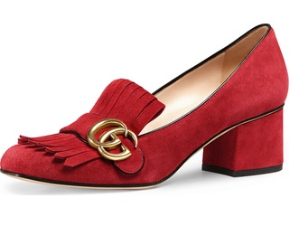 Fringes Red Pump Shoes