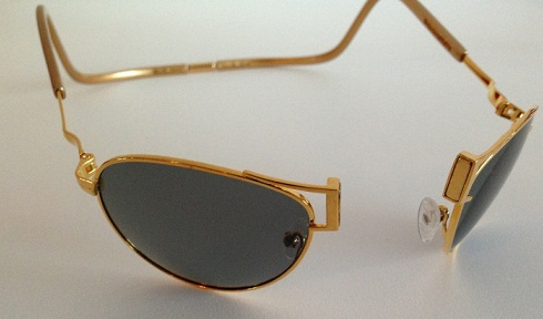 Front Opening Gold Sunglasses