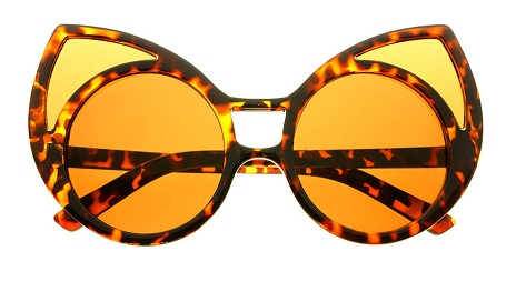 Funky Oversized Cat Eye Sunglasses for Women