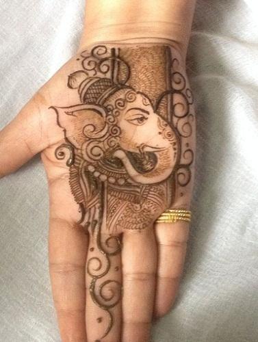 Ganesha Palm Mehndi