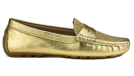Gold Loafers for Women