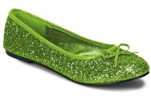 Green Ballet Flats Women Shoes-6