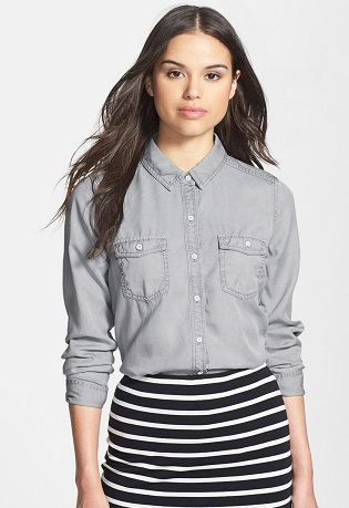Grey Dress Shirt for women