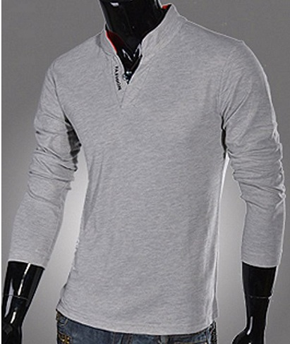 Grey Full Sleeve T-Shirt for men