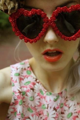 Heart Shape Retro Sunglasses