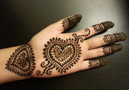 Mehndi Designs For Palm : Latest single line mehndi designs with pictures styles at life
