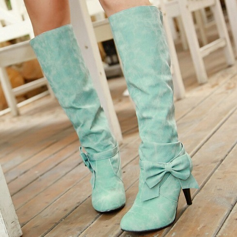 High Heel Green women Shoes