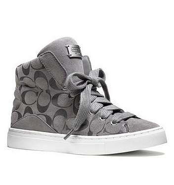 High Top Signature Printed Women Sneaker Shoe