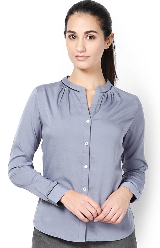 High collar formal shirt