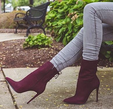 High heel evening boots
