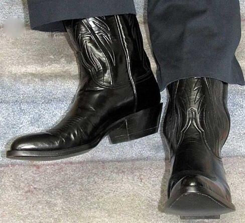 High heel show boots for men