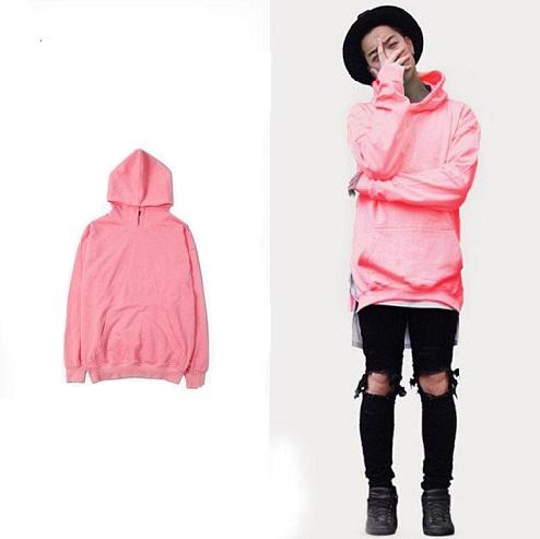 Hoodie Style Men's Pink Sweatshirt