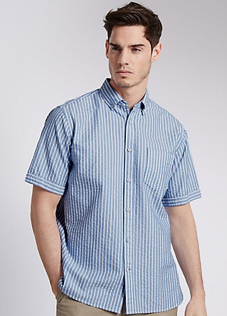 Horizontal Stripped Half sleeve casual Shirt