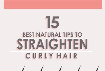 how to straighten curly hair naturally styles at life