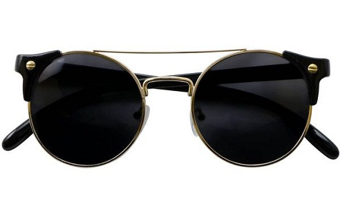 Iyu Design Black Sunglasses Gold Frames Uv3