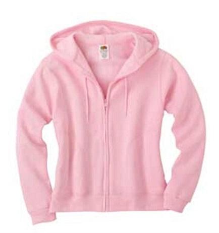 Jacket-style pinkWomen's sweatshirt