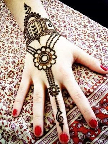 Jewellery Style Bracelet Mehndi Design