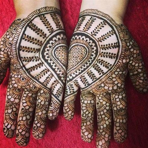 Joining Hearts Palm Mehndi
