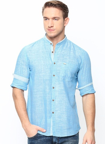 Khadi Blue Shirt