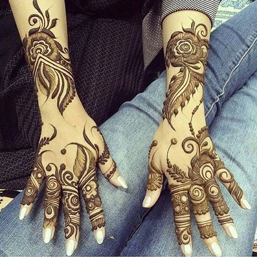 Top 10 Attractive Khaleeji Mehndi Designs Styles At Life
