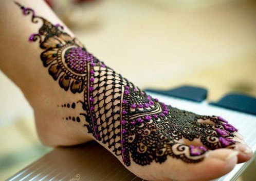 Khaleeji Mehndi Design for Foot