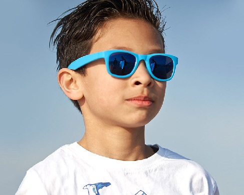 Kid's Friendly Blue Sunglasses