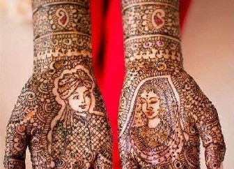 King and Queen Marathi Mehndi Design