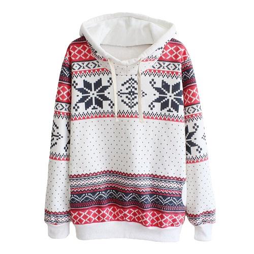 Knit print sweatshirt