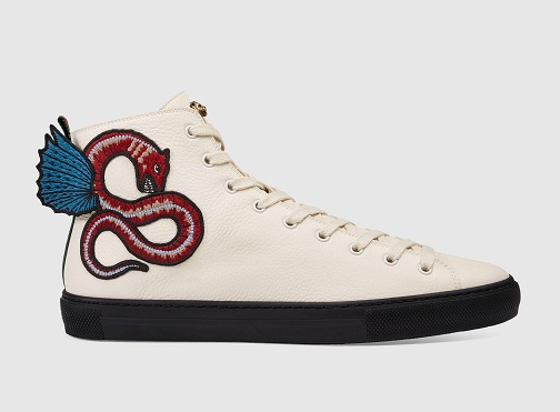 Leather Dragon Shaped Sneakers for Men