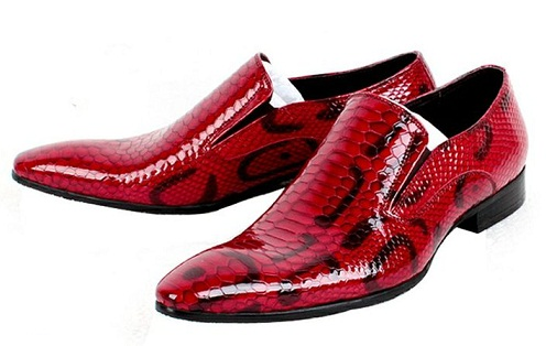 Leather Red Dress Shoe for Men's -2