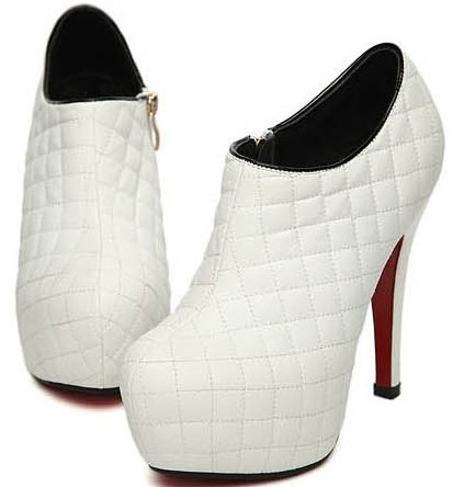 Leather White Dress Shoes for Women