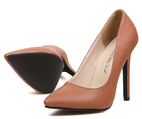 Light Brown Formal Pumps for Women