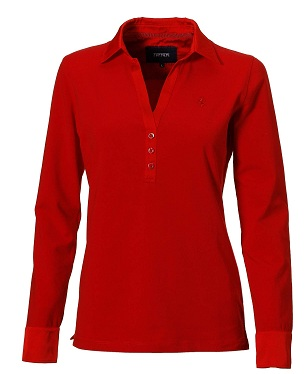 Long sleeves women's polo shirt